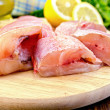 Stockfoto: Fillet of sebass with oil and knife