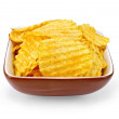 Chips in a bowl — Stock Photo