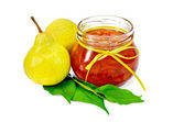 Jam pear with pears — Stock Photo