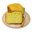 Bread homemade yellow on round board — 图库照片 #35243705