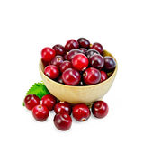 Cranberries in a wooden bowl — Foto Stock