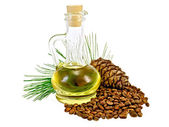 Oil cedar cones and nuts — Stock Photo