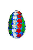Easter Egg with sequins in the form of flowers — Stockfoto
