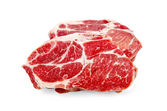 Meat raw two pieces — Stock Photo
