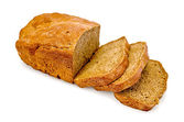 Rye homemade bread cut into slices — Stock Photo