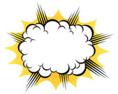 Cloud after the explosion — Stock Vector
