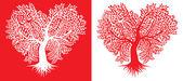 树在心的形状 — 图库矢量图片