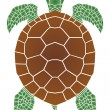 Sea turtle — Stock Vector