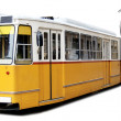Orange tram — Stock Photo