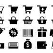 Shopping icons — Vettoriale Stock #28280783