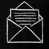 Open envelope icon — Stock fotografie