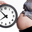 Belly and clock — Stock Photo #30644865