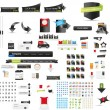 Designers toolkit - large web graphic collection - Векторная иллюстрация