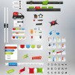 Designers toolkit - large web graphic collection — Imagens vectoriais em stock