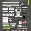 Designers toolkit - large web graphic collection — Stock Vector