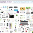 Designers toolkit - Four web collections in one - Векторная иллюстрация