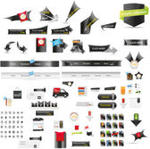 Designers toolkit - large web graphic collection — Vector de stock
