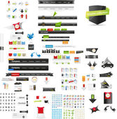 Designers toolkit - large web graphic collection — Stok Vektör