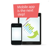 Mobile app is the next step! — Vector de stock