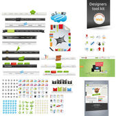 Designers toolkit - large web graphic collection — Vetorial Stock