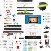 Designers toolkit - large web graphic collection — ストックベクタ