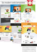 Designers toolkit - web template collection — Cтоковый вектор