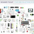 Designers toolkit - Four web collections in one — Stockvectorbeeld
