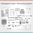 Designers toolkit - Web mockup graphics — Stock Vector #26001639