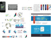 Large collection of web graphics — Vector de stock