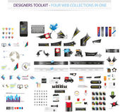 Designers toolkit - Four web collections in one — Stockvector