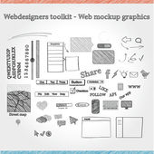 Designers toolkit - Web mockup graphics — Stock Vector