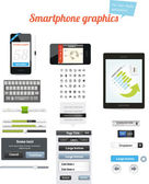 Smartphone-grafiken — Stockvektor