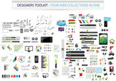Designers toolkit - Four web collections in one — ストックベクタ