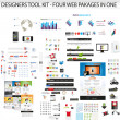 Huge collection of web graphics — Stock Vector