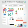 Minimalistic web design — Stock Vector