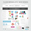 Stock Vector: Minimalistic web design