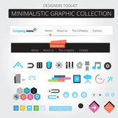 Minimalistic web graphics — Cтоковый вектор