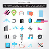 Minimalistic web graphics — Vector de stock