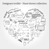 Designers toolkit - Hand drawn collection — Stock Vector
