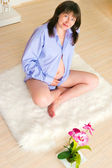 Piękne średniej wieku kobiet w ciąży — Zdjęcie stockowe