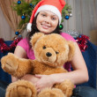 The girl with a soft toy — Stock Photo #1903963