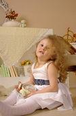 La ragazza dai capelli d'oro — Foto Stock