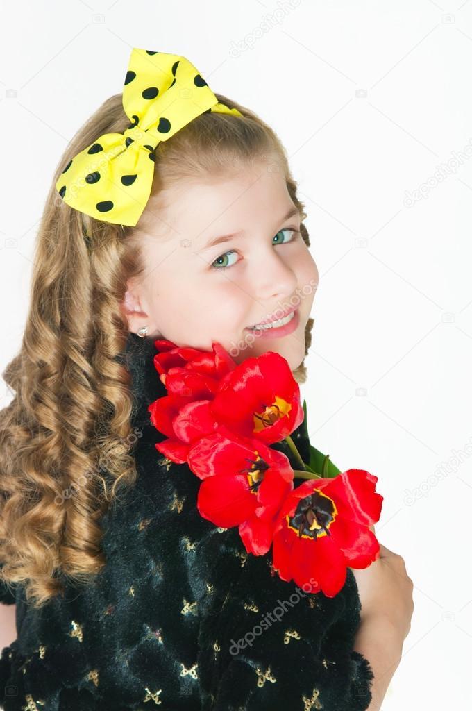 Девушка букет фото
