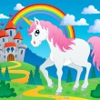 Stock Vector: Fairy tale unicorn theme image 2
