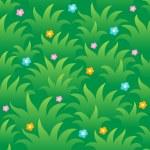 Grassy seamless background 1 — Stock Vector #12565089
