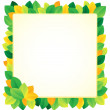 Stock Vector: Leafy theme frame 1