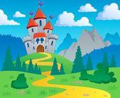 Castle theme landscape 1 — Stock Vector