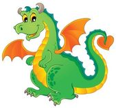 Dragon theme image 1 — Vector de stock