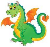 Immagine di tema del drago 1 — Vettoriale Stock