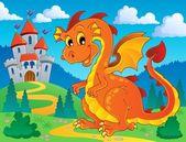 Dragon theme image 9 — Stock Vector